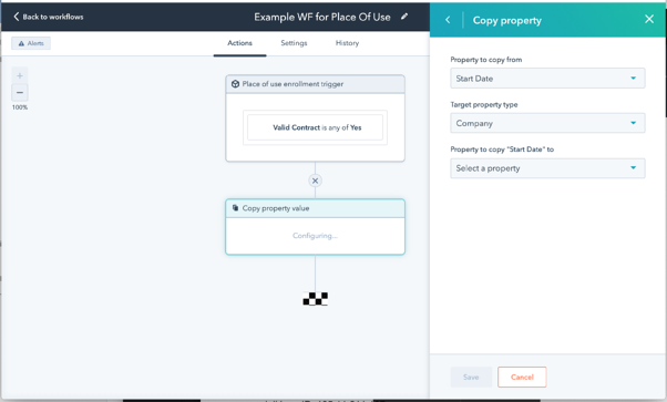 Custom objects can be used in workflows