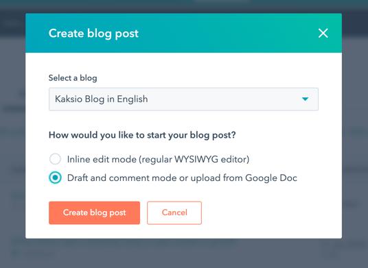 Tuo blogiteksti suoraan Google Doc -tiedostona HubSpotiin