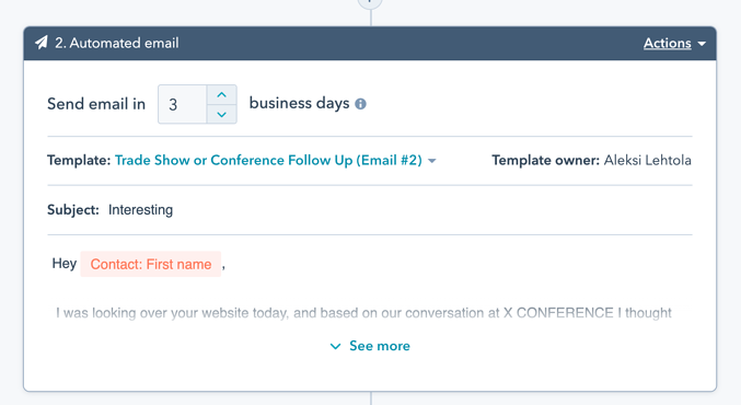 Send HubSpot sequence emails only business days