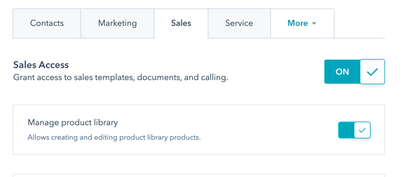 New setting to edit and add new things in the product library.