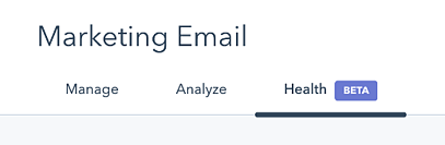 Track your email health score in HubSpot