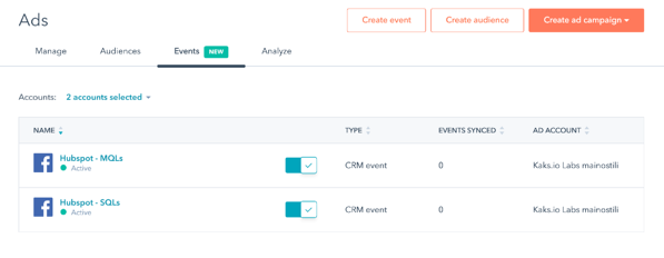 Ads event tracking now possible in HubSpot