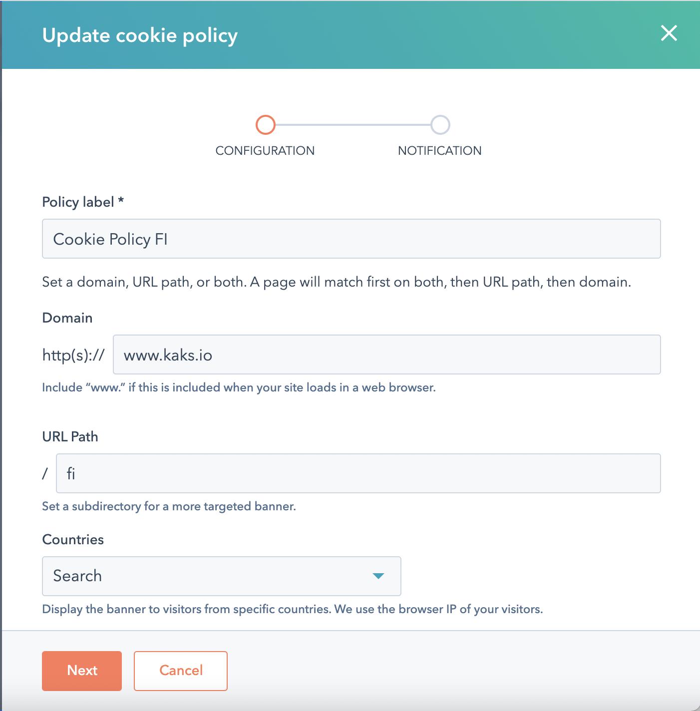 Geotrageting the cookie banner - hubspot updates june 21