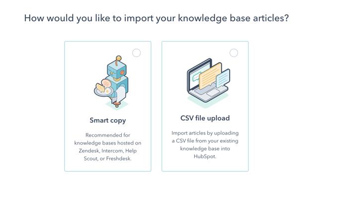 Knowledge base import - hubspot updates june 21