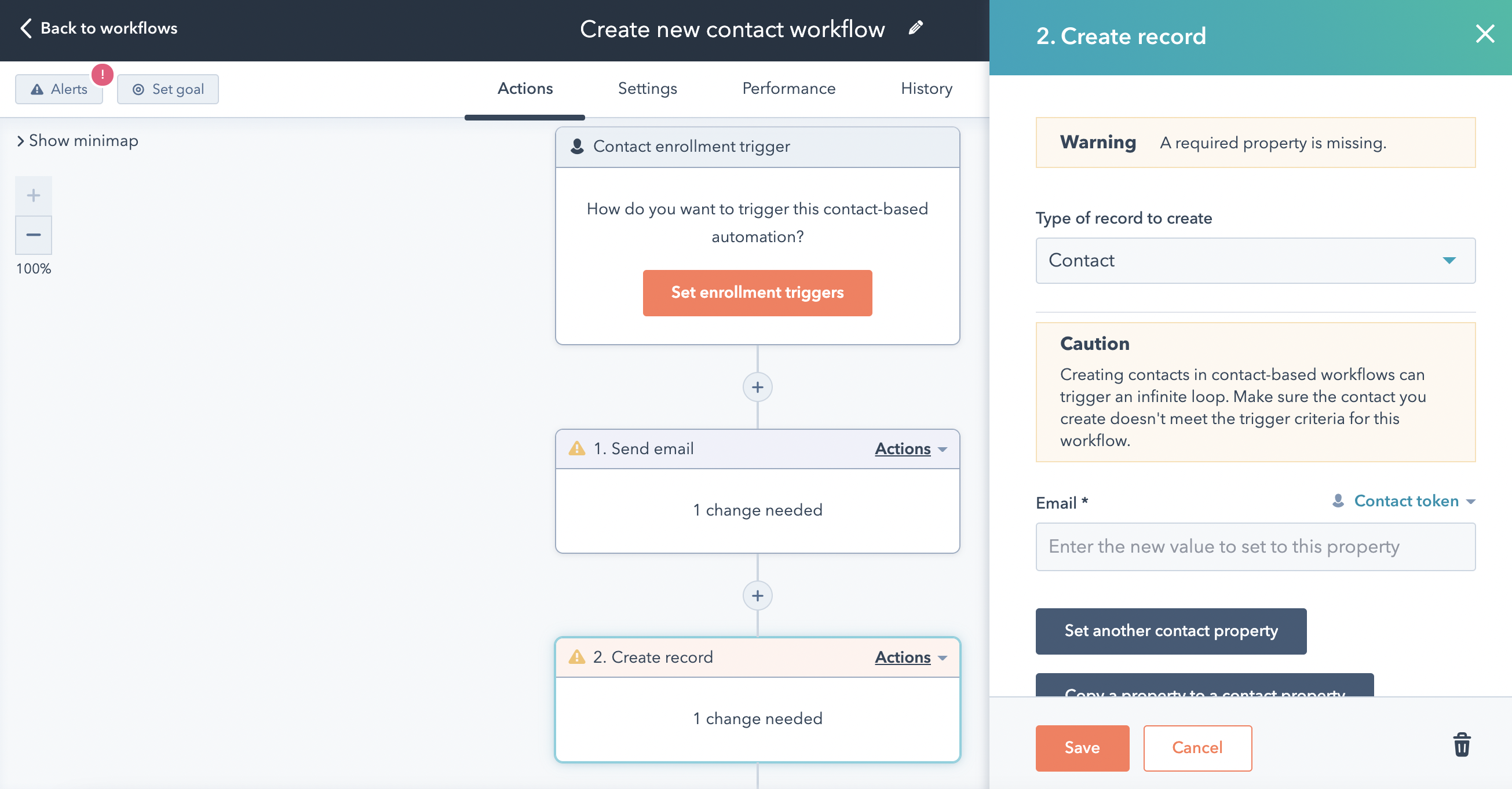 HS Updates Sep_Create Contacts with Workflow