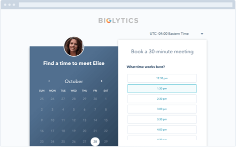 HubSpot meetings tool