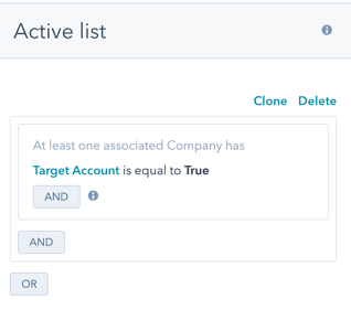 Create company based lists in HubSpot ABM toolset