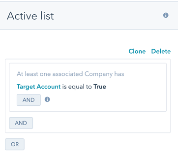 HubSpot ABM tools: company lists
