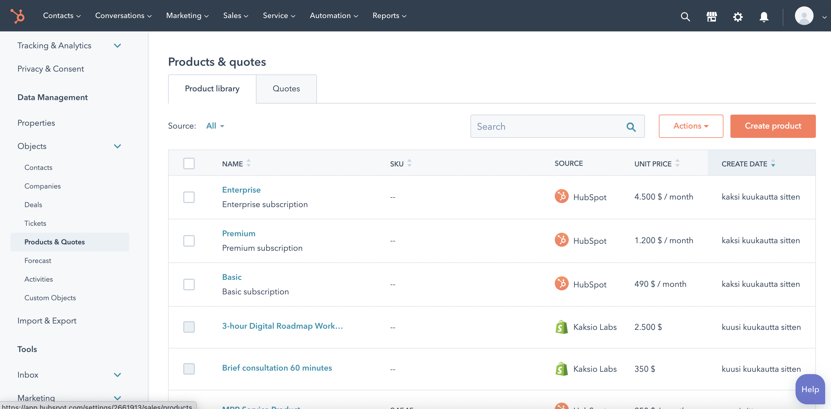 HubSpot brings products to all Pro+ HubS