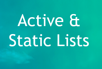 Active and static lists